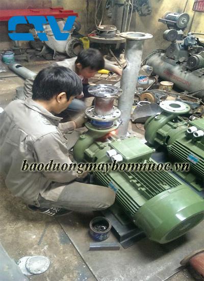 Bảo dưỡng máy bơm trục ngang Sealand cho các khách hàng trên toàn quốc