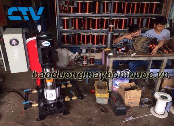 Bảo dưỡng máy bơm trục đứng CNP tại Cường Thịnh Vương