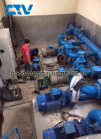 Thi công bảo dưỡng hệ thống máy bơm cấp nước sinh hoạt tại Hà Nội