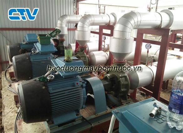 Bảo dưỡng hệ thống máy bơm giải nhiệt Chiller tại nhà thi đấu tỉnh Hà Nam