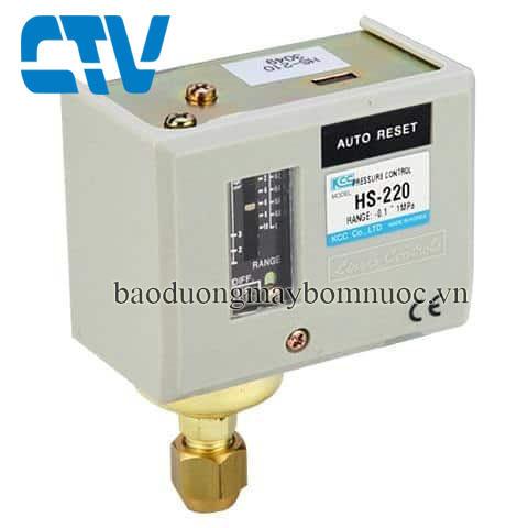 Công tắc áp suất HS 220 (rơ le áp suất)