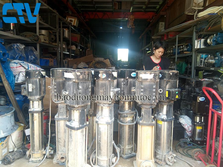 Bảo dưỡng máy bơm nước trục đứng CNP tại Cường Thịnh Vương