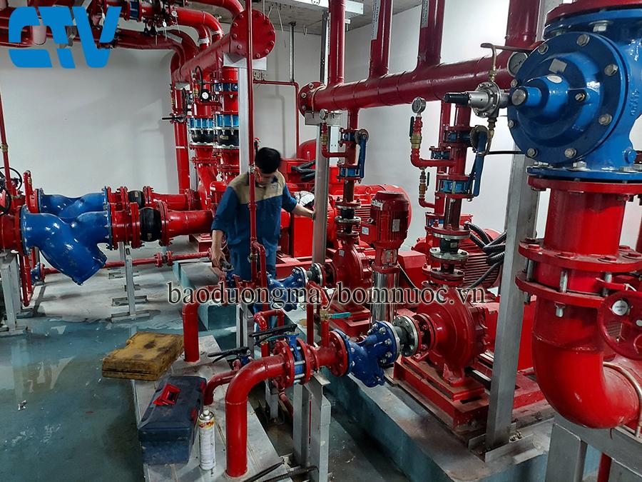 Dịch vụ sửa chữa, bảo dưỡng máy bơm, hệ thống máy bơm PCCC tại các tòa nhà